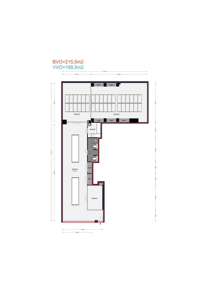 Amsterdam – Kerkstraat 303A – Plattegrond