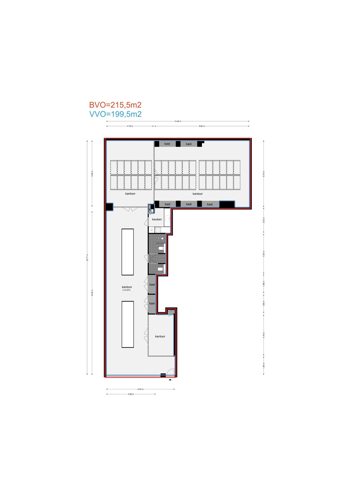 Amsterdam – Kerkstraat 303A – Plattegrond 4