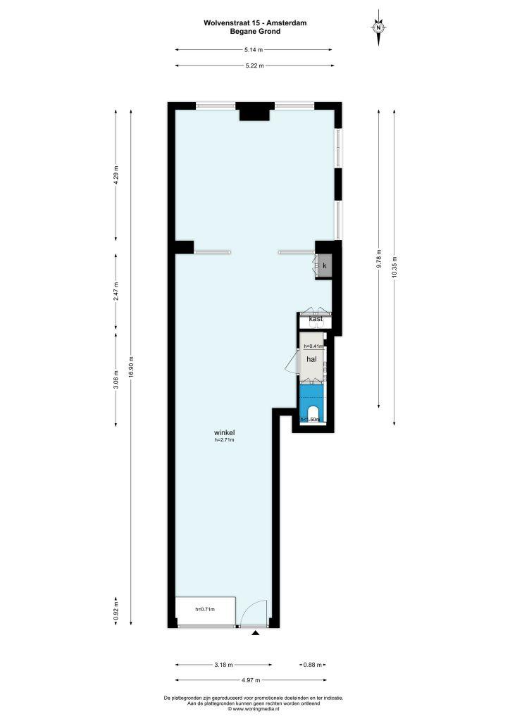 Amsterdam – Wolvenstraat 15 – Plattegrond 2