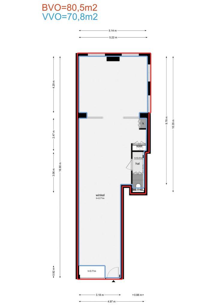 Amsterdam – Wolvenstraat 15 – Plattegrond 3